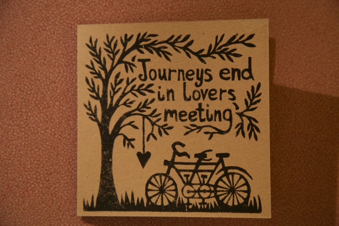 Journeys end Twelth Night card